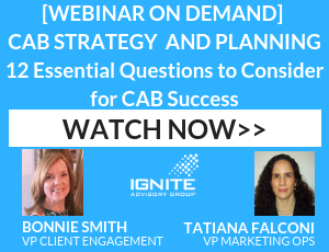 Webinar - Customer Advisory Board Strategy and Planning